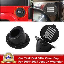 Fuel Filler Cover Gas Tank Cap USA Flag Logo 07-17 JK Jeep Wrangler Unlimited
