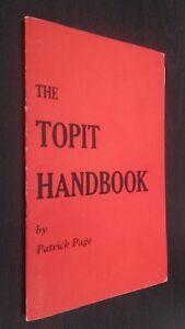 The Topit Handbook por Patrick Páginas Retrato AUTOR + 2 Documentos Buen Estado