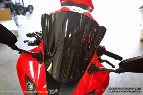 Motodynamic Race Series Windscreens Windshield Ninja ZX6R ZX10R 2009-2012 BLACK