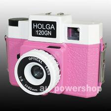 HOLGA 120GN 120 GN Medium Format Film Glass Lens Toy Camera LOMO 6x6 Pink White