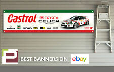 Toyota Celica GT-Four Banner for Workshop, Garage, Carlos Sainz Rally, Castrol