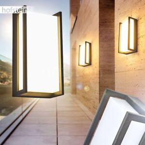 Details zu anthrazit LED Außen Wand Lampen moderne Terrasse Hof Einfahrt  Garten Beleuchtung
