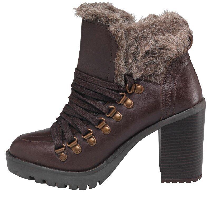 Firetrap Womens Quarry Boots, Brown, BNIB, RRP