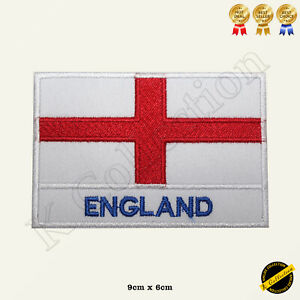 England National Flag Iron On Patch Sew Embroidered Badge