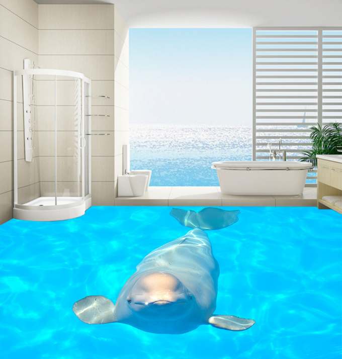 3D Shiny Sea Dolphin 87 Floor WallPaper Murals Wall Print Decal AJ WALLPAPER US