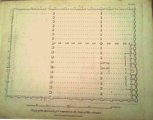 CoRDOBA-PLANOS-DE-LA-CATEDRAL-y-MEZQUITA-Grabado-original-de-Bourgoing-1808