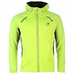 giubbetto-034-Xlite-Hoody-034-con-cappuccio-taglia-M-giallo-acido-nero-running-sport