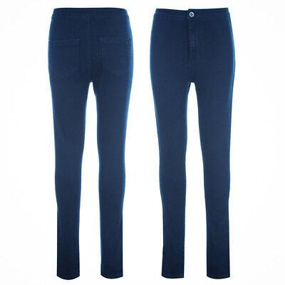 Miso Women's High Waist Skinny Stretch Dark Wash Denim Jeggings Jeans UK 10 12 | eBay