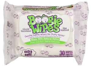 Boogie Wipes Unscented 30 Each (Pack of 6)