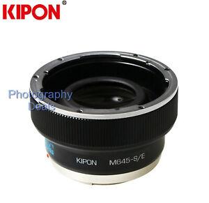 Kipon-0-7x-Reducteur-Focal-Booster-Adaptateur-pour-objectif-Mamiya-645-pour-Sony-E-A9-A7R3
