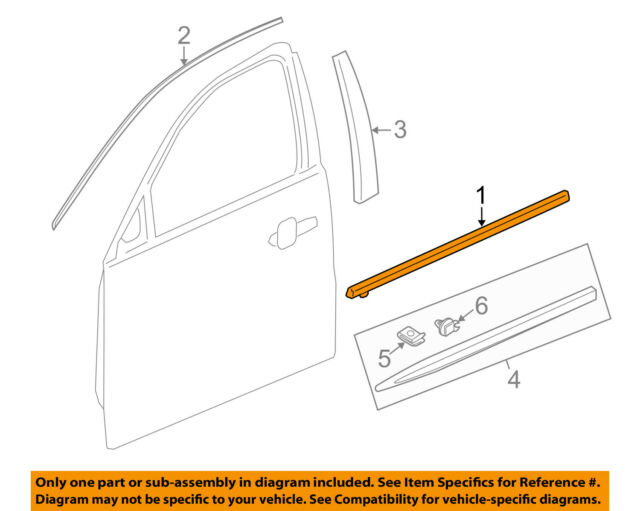Genuine Honda Belt Molding 72410-TK8-A11