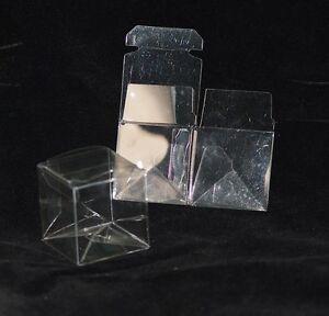 Wedding-Bridal-Bomboniere-60-pcs-Clear-Folding-Boxes-50mm-x-50mm-x-50mm