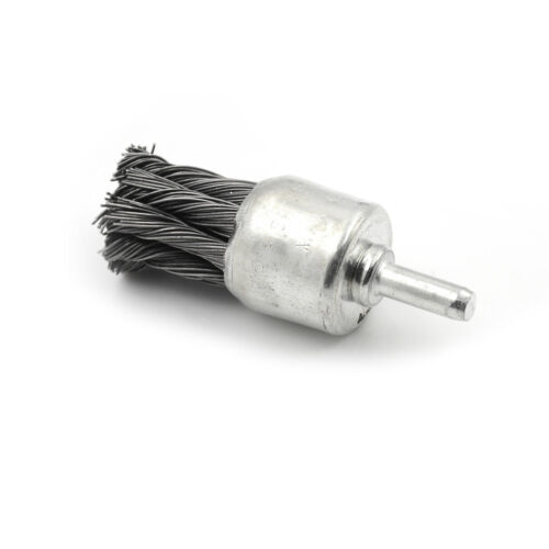 6*25mm Wire Knot End Brush Stainless Steel With Shank For Die Grinder or Drill;