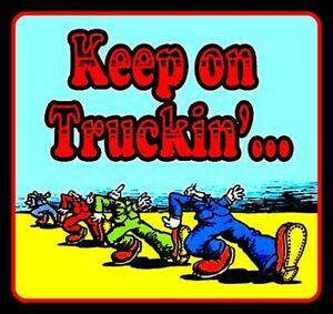 "4"" Keep on Truckin' vinyl sticker. Grateful Dead, R. Crumb decal for car, laptop"
