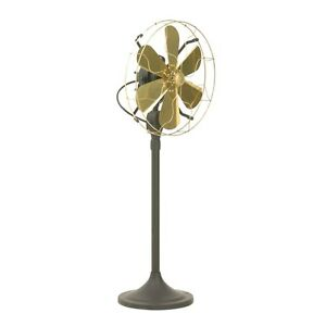 16-034-Brass-Blade-Electric-Stand-Fan-Orbital-Oscillate-Work-Vintage-Antique-style