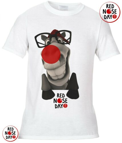 Red Nose Day 2019 Comic Relief,Horse pony funny ADULT T-SHIRT fund raising