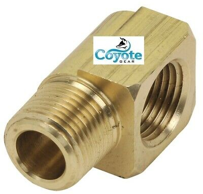 "1//2/"" Hose Barb x 3//8/"" Male NPT Threads Brass 90 Degree Elbow Fitting Coyote Gear"