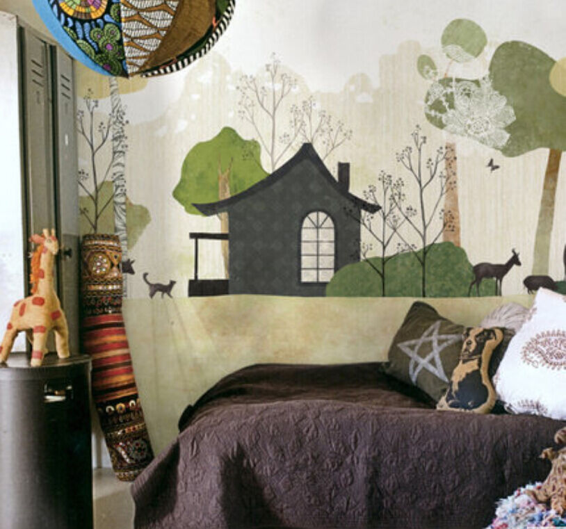 3DLovely house simple 1 WallPaper Murals Wall Print Decal Wall Deco AJ WALLPAPER