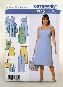 5017-Simplicity-Dress-Purse-Pants-Bag-Vtg-Sewing-Pattern-Women-039-s-Clothing-26-32W