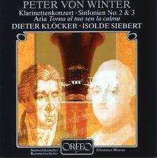 PETER VON WINTER: Klarinettenkonzert; Sinfonien No. 2 & 3; CD, ORFEO, D. Klocker