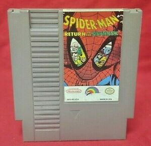 Spider-Man-Return-of-Sinister-six-Nintendo-NES-Game-Rare-Tested-Works-Authentic