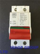 1 X MK Sentry LN 5500s 100Amp Double Pole Isolator EN60947-3 100Amp Main Switch
