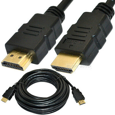 Premium 7.5m 25Ft feet HDMI CABLE BLURAY 3D PS3 xbox 1080P HDTV Glod Plated