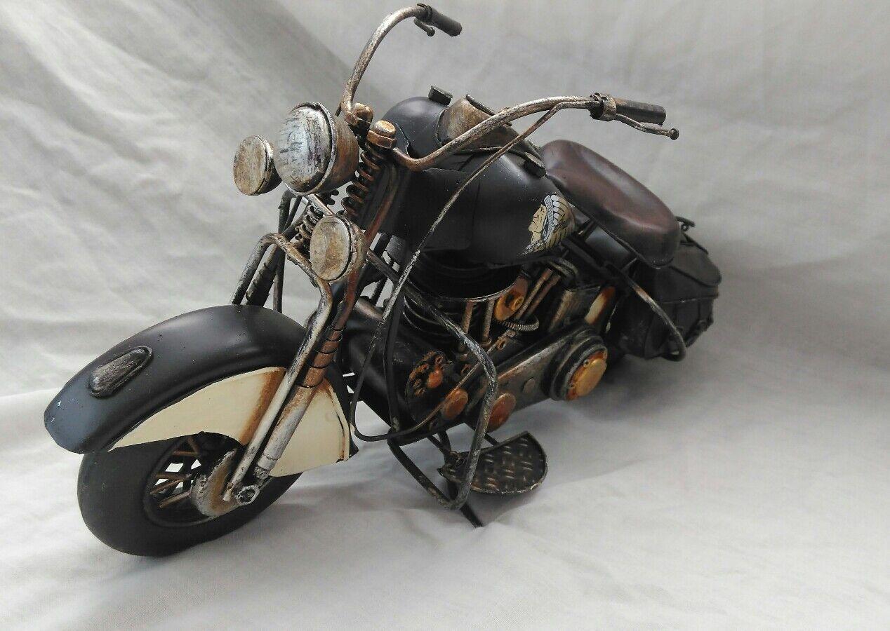 Hojalata moto. estilo indio americano americano americano Clásico Moto. Nueva. 751913