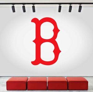 boston red sox logo wall decal sports sticker decor vinyl mlb cg178 rh ebay com boston red sox images