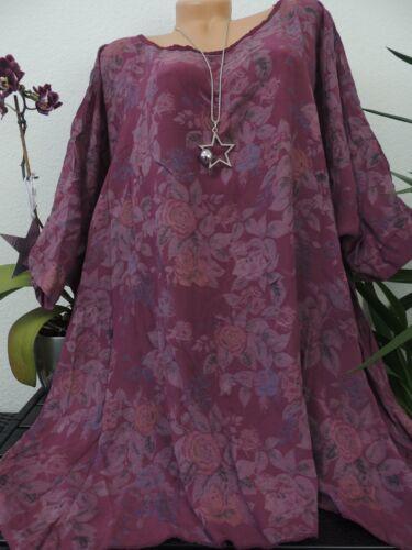 Damen Bluse Größe 56 58 60 62 Übergröße Blumen Top Tunika Blusen T Shirt 80