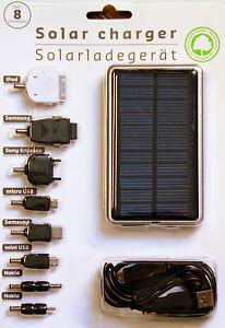 Solar-Ladegeraet-8-Adapter-Akku-Batterie-Handy-Smartphone-Samsung-HTC-micro-USB