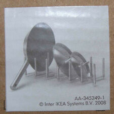 IKEA pot lid organizer plate holder adjustable length stainless steel RATIONELL