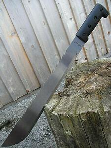 2x-XL-Stahl-MACHETE-Messer-leichtes-BUSCHMESSER-AXT-SAGE-Beil-Outdoor-Angeln-Mi1