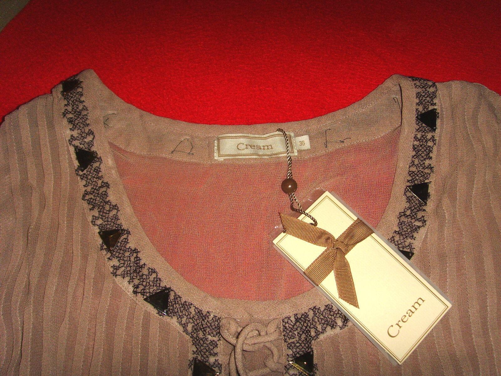 Cream Dk tunique chemisier rohommetique boho hippie 36 38 M Neuf avec étiquette    TOP