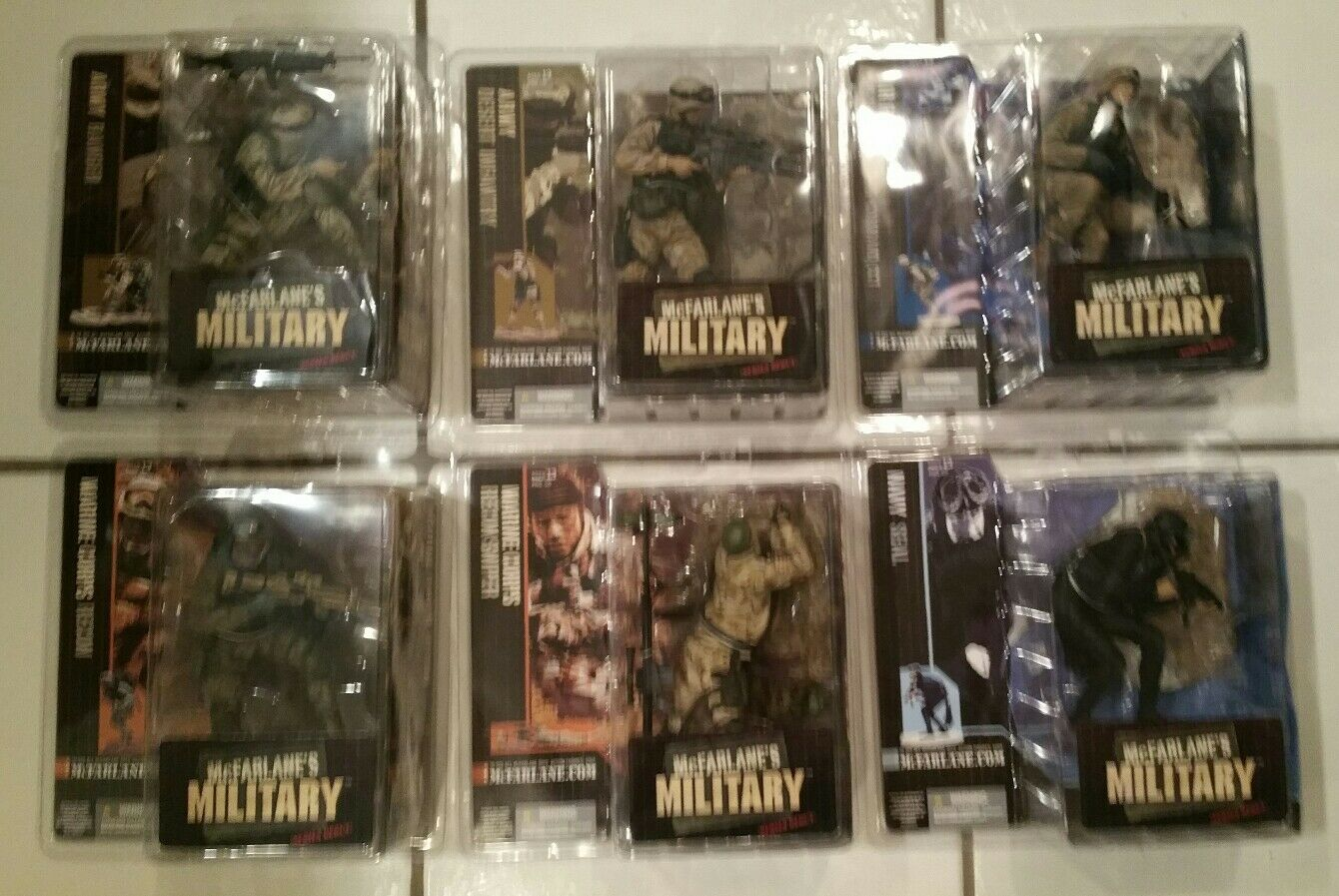 McFarlane Military Series 1 Set of 6 Seal Sniper Recon CCT Infantry Ranger NEW