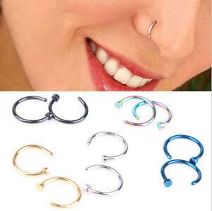 2pcs-Stainless-Steel-Open-Hoop-Nose-Ring-Studs-Earrings-Body-Piercing-Fashion