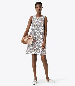 99bd7866623de Tory Burch Hicks Garden Party Mini Dress Cover Up Shift Floral ...