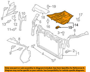 image is loading mazda-oem-09-12-cx-7-under-radiator-