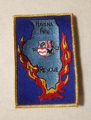 PATCH FIRE /& RESCUE HAVANA ILLINOIS Blue sky
