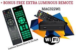 Details about New Original Infomir MAG322W1 Mag 322W1 IPTV box WIFI + FREE  LUMINOUS REMOTE