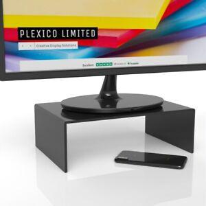 Black-Desktop-Monitor-Stand-affichage-ecran-de-montage-avec-H-D-300-mm-x-200-mm-x-100-mm