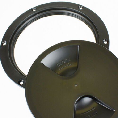 BLACK Round Inspection Hatch Access Hole  200mm 8 INCH