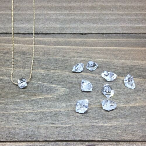 dainty choker Tiny Herkimer Diamond necklace 14k gold filled