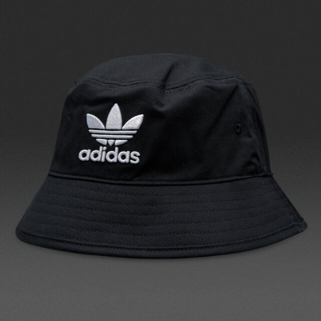 Adidas Originals Adicolor Bucket Hat Black With White Logo BK7345 One Size