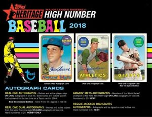 2018-TOPPS-HERITAGE-HIGH-NUMBERS-LIVE-RANDOM-PLAYER-12-BOX-HOBBY-CASE-BREAK