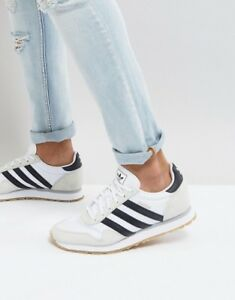 official images professional sale wholesale sales Details zu adidas Haven Mens White Black Gum Casual Trainers Originals  BY9713 SIZE 4 SIZE 6