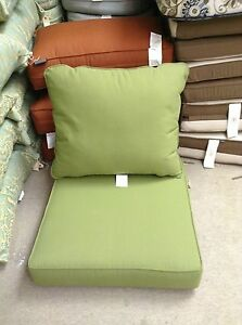 Frontgate Outdoor Patio Chair Sofa Cushions 24x24 Olive
