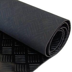 5 Bar Checker Patterned Rubber Flooring Matting for Garage, Van or Car Roll Mat