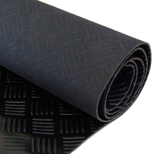 5 bar Checker à Motifs Caoutchouc Sol nattes pour garage van ou voiture Roll Mat