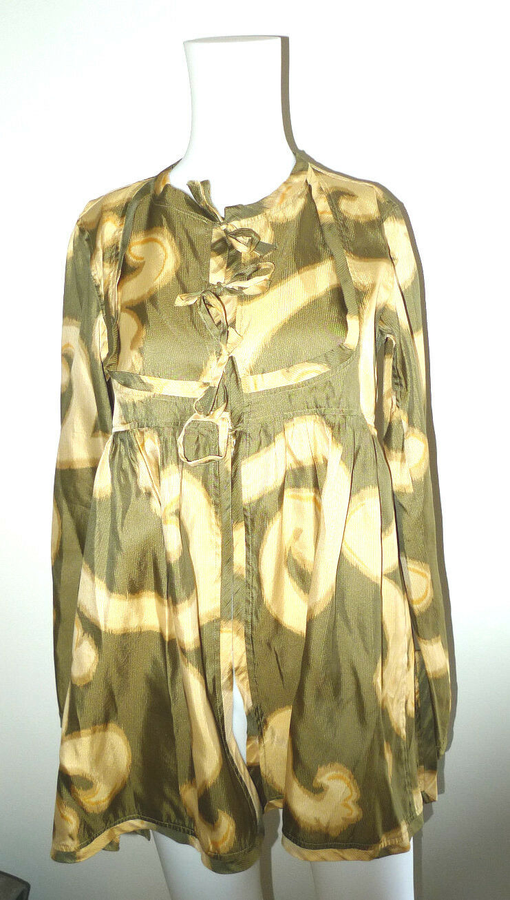 DRIES VAN NOTEN SIZE 38 100% SILK BLOUSE TUNIC TO… - image 4